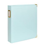 Studio Calico - Seven Paper - Handbook Collection - 9 x 12 D-Ring Album - Faux Leather - Aqua