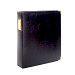 Studio Calico - Seven Paper - Handbook Collection - 9 x 12 D-Ring Album - Faux Leather - Black