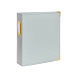 Studio Calico - Seven Paper - Handbook Collection - 6 x 8 D-Ring Album - Faux Leather - Gray