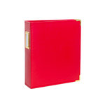Studio Calico - Seven Paper - Handbook Collection - 6 x 8 D-Ring Album - Faux Leather - Red