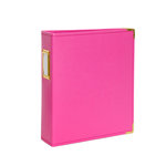 Studio Calico - Seven Paper - Handbook Collection - 6 x 8 D-Ring Album - Faux Leather - Hot Pink