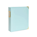 Studio Calico - Seven Paper - Handbook Collection - 6 x 8 D-Ring Album - Faux Leather - Aqua
