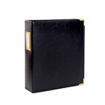 Studio Calico - Seven Paper - Handbook Collection - 6 x 8 D-Ring Album - Faux Leather - Black