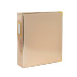 Studio Calico - Seven Paper - Handbook Collection - 6 x 8 D-Ring Album - Faux Leather - Gold