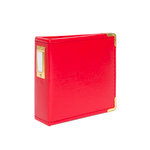 Studio Calico - Seven Paper - Handbook Collection - 4 x 4 D-Ring Album - Faux Leather - Red