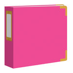 Studio Calico - Seven Paper - Handbook Collection - 4 x 4 D-Ring Album - Faux Leather - Hot Pink