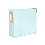 Studio Calico - Seven Paper - Handbook Collection - 4 x 4 D-Ring Album - Faux Leather - Aqua