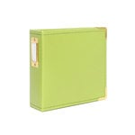 Studio Calico - Seven Paper - Handbook Collection - 4 x 4 D-Ring Album - Faux Leather - Green