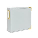 Studio Calico - Seven Paper - Handbook Collection - 4 x 4 D-Ring Album - Faux Leather - Gray
