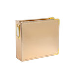 Studio Calico - Seven Paper - Handbook Collection - 4 x 4 D-Ring Album - Faux Leather - Gold
