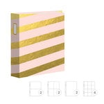Studio Calico - Seven Paper - Clara Collection - Handbook Albums - 6 x 8 D-Ring - Stripe