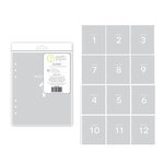 Studio Calico - Seven Paper - Clara Collection - Handbook Dividers - 6 x 8 - Transparent - Months