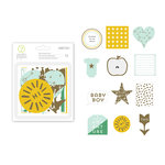 Studio Calico - Seven Paper - Clara Collection - Die Cut Cardstock Pieces with Foil Accents - Boy
