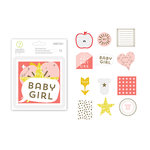 Studio Calico - Seven Paper - Clara Collection - Die Cut Cardstock Pieces with Foil Accents - Girl