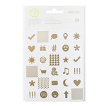 Studio Calico - Seven Paper - Elliot Collection - Cardstock Stickers with Foil Accents - Icons