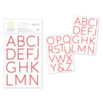 Studio Calico - Seven Paper - Felix Collection - Christmas - Puffy Stickers - Alphabet - Red