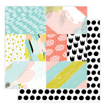 Studio Calico - Seven Paper - Goldie Collection - 12 x 12 Double Sided Paper - Paper 06