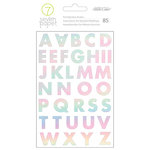 Studio Calico - Seven Paper - Goldie Collection - Cardstock Stickers with Foil Accents - Alphabet