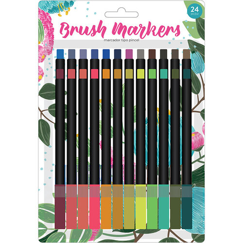 American Crafts - Brush Markers - Fine - Traditional Flower