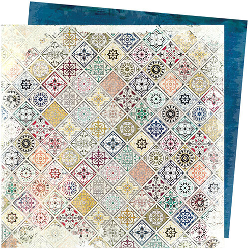 American Crafts - Storyteller Collection - 12 x 12 Double Sided Paper - Patchwork