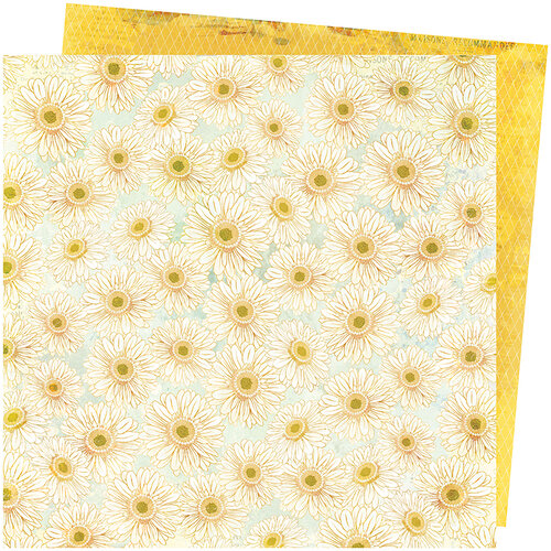 American Crafts - Storyteller Collection - 12 x 12 Double Sided Paper - Daisies