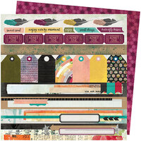 American Crafts - Storyteller Collection - 12 x 12 Double Sided Paper - Plot