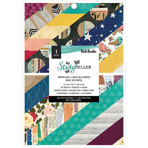 American Crafts - Storyteller Collection - 6 x 8 Paper Pad