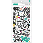 American Crafts - Storyteller Collection - Thickers - Puffy - Phrase and Icons