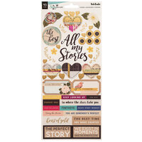 American Crafts - Storyteller Collection - 6 x 12 Stickers with Foil Accents