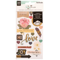 American Crafts - Storyteller Collection - Sticker Book with Foil Accents