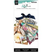 American Crafts - Storyteller Collection - Tags and Journaling Pieces with Glitter Accents
