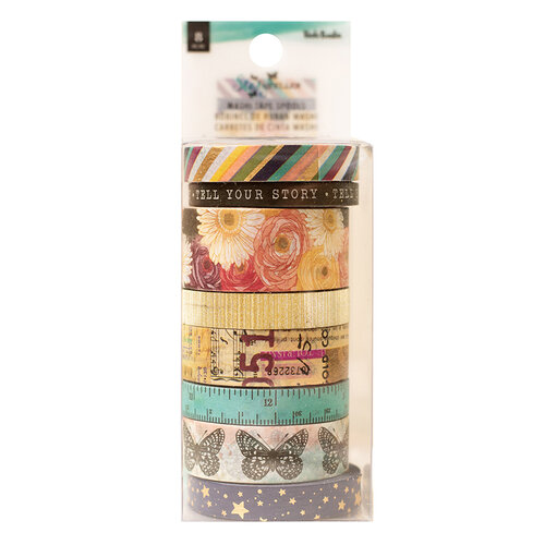 Vicki Boutin - Storyteller Collection - Washi Tape - with Glitter and Foil Accents