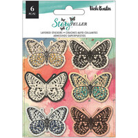 American Crafts - Storyteller Collection - Stickers - Matte Vellum - Layered Butterflies