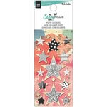 American Crafts - Storyteller Collection - Stickers - Puffy with Foil Accents - Mini Stars