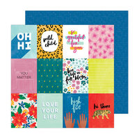 Amy Tangerine - Brave and Bold Collection - 12 x 12 Double Sided Paper - High Five