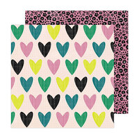 Amy Tangerine - Brave and Bold Collection - 12 x 12 Double Sided Paper - Whole Heart