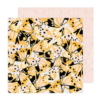 Amy Tangerine - Brave and Bold Collection - 12 x 12 Double Sided Paper - Flutter