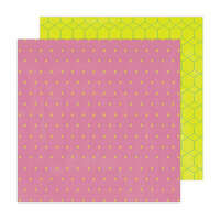 Amy Tangerine - Brave and Bold Collection - 12 x 12 Double Sided Paper - It's Electric