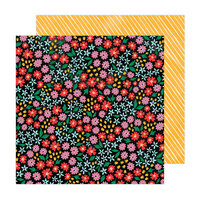 Amy Tangerine - Brave and Bold Collection - 12 x 12 Double Sided Paper - Full Bloom