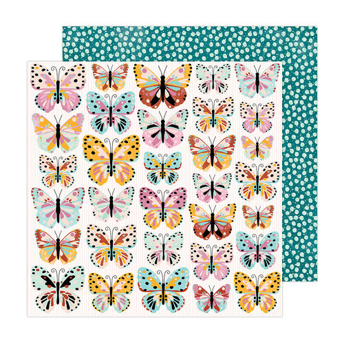 Amy Tangerine - Brave and Bold Collection - 12 x 12 Double Sided Paper - Monarch