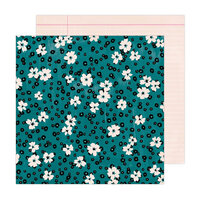 Amy Tangerine - Brave and Bold Collection - 12 x 12 Double Sided Paper - Floral Fantasy