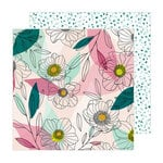 Amy Tangerine - Brave and Bold Collection - 12 x 12 Double Sided Paper - Anemone