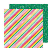 Amy Tangerine - Brave and Bold Collection - 12 x 12 Double Sided Paper - Summer Stripes