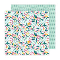 Amy Tangerine - Brave and Bold Collection - 12 x 12 Double Sided Paper - Flower Beds