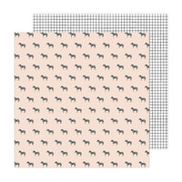 Amy Tangerine - Brave and Bold Collection - 12 x 12 Double Sided Paper - Black and White