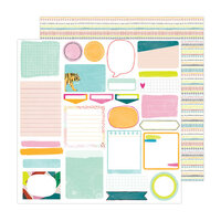 Amy Tangerine - Brave and Bold Collection - 12 x 12 Double Sided Paper - Take Note