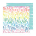Amy Tangerine - Brave and Bold Collection - 12 x 12 Double Sided Paper - April Showers
