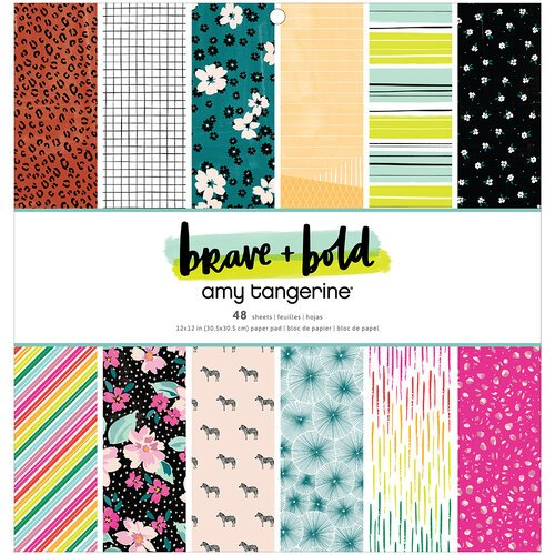 Amy Tangerine - Brave and Bold Collection - 12 x 12 Paper Pad