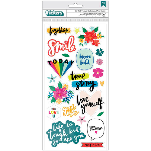 Amy Tangerine - Brave and Bold Collection - Thickers - Be Bold - Phrases - Foam