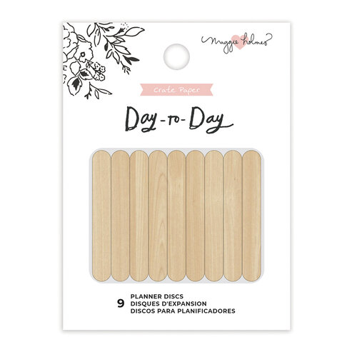 Maggie Holmes - Day to Day Planner Collection - Planner Discs - Medium - Wood